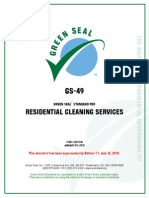 Residential Cleaning Services Standard First Edition
