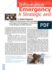 Public Information in Emergency Crisis Situations