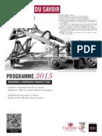 Livret Les amphis du savoir 2015