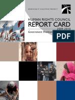 2009-2010 HRC Report Card