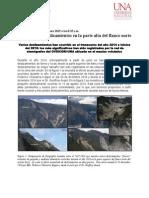 Volcán Irazú. Informe deslizamientos