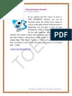 TOEFL_The Best Source of News