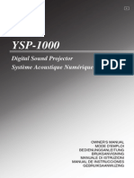 YAMAHA YSP-1000 User Guide