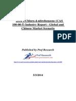 2014 1-Chloro-4-nitrobenzene (CAS 100-00-5) Industry Report - Global and Chinese Market Scenario.docx