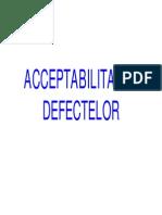 Acceptabilitatea defectelor