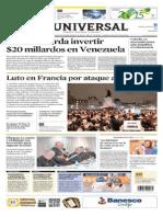 El Universal [Jue, 08 Ene 2015] - Calibre