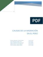 Causas de La Migración en El Perú - Explicación Final