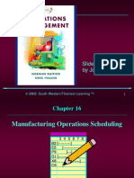 Manufacturing Operations Scheduling
