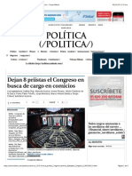 08-01-15 Dejan 8 Priistas El Congreso en Busca de Cargo en Comicios - Grupo Milenio