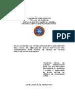 hidraulica- Evaluacion Del Canal de Drenaje