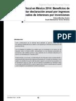 608_Reforma Fiscal en México 2014 Beneficios de Presentar Declaración