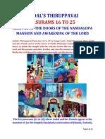 Andal's Thiruppavai Pasurams 16 to 25