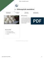 Raffaello – Kókuszgolyók Mandulával