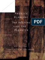 Maurice Blanchot, the Writing of the Disaster