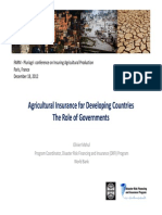 Agricultural Insurance in the World