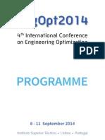 EngOpt2014 Programme 29 Aug 2014