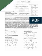 Final Exam 2005 Solutions