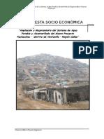 Encuesta Socioeconomica - Pachacutec