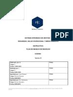 Plan de Manejo de Residuos-Almacenes