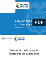 Mindefensa presentó balance de seguridad de 2014