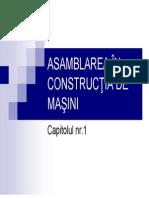 Asamblarea i Constructii de Masini Cap 1
