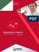 Presupuesto publico l gestion del año fiscal 2015