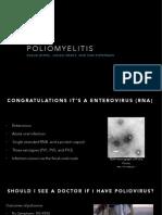 Poliomyelitis presentation