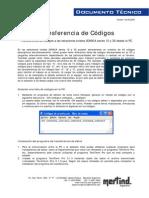 Transferencia de Códigos Desde Una PC