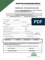 Drama Registration Form 2014-2015 -2