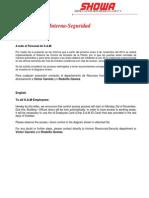 Comunicado Control de Accesos lay out