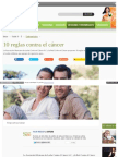 10 Reglas Contra El Cancer
