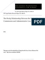 The Rocky Relationship between the Federal Trade Commission and Administrative Law by Richard J. Pierce :