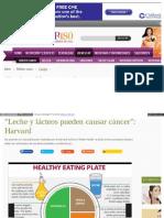 Leche y Lacteos Generan Cancer