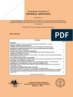 Romanian Journal of Mineral Deposits Vol 85 Issue 1