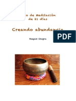 MEDITACIÓN DE LA ABUNDANCIA. Deepak Chopra