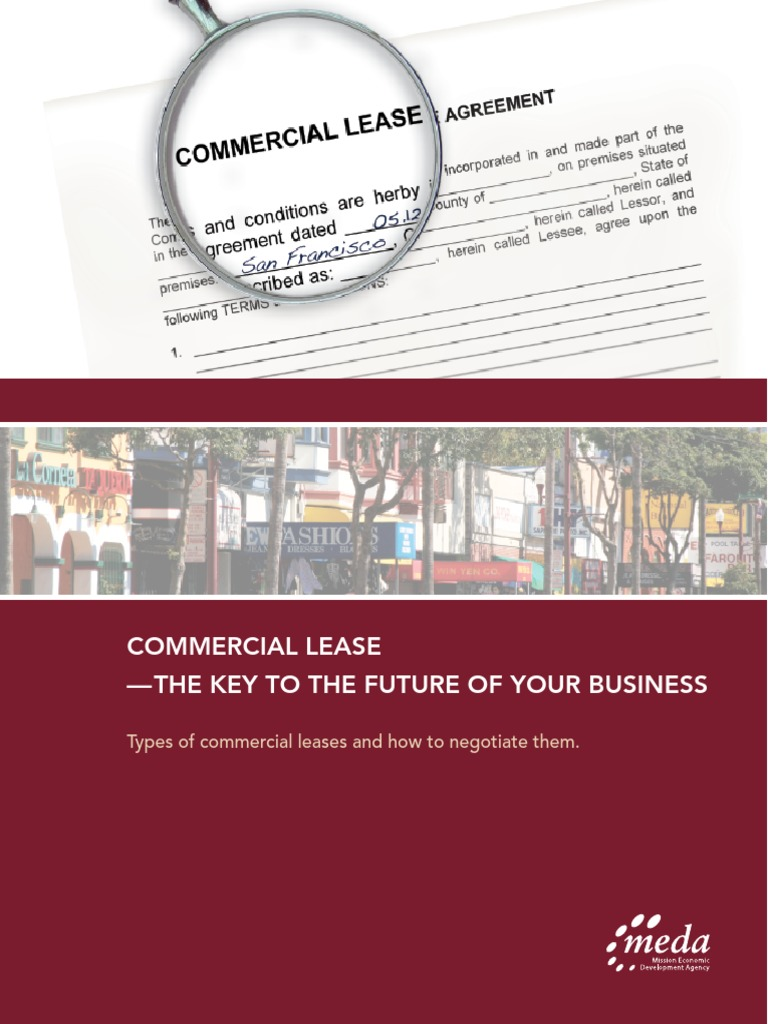 Commercial Lease Lease Leasehold Estate