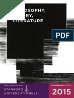 2015 Philosophy, Theory, & Literature Catalog