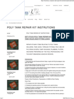 Poly Tank Repair Kit Instrutions