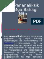 Ang Pananaliksik at Mga Bahagi Nito
