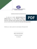 Certificado de Practicas Profecionales UNEFA