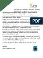santiago avid saturday school intervention fall 2014