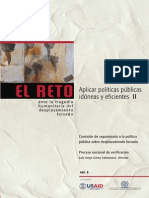 Comisión de Seguimiento a La Pp Desplaza. 2010