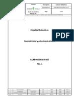 COM 002 IM CH 001 Memorias de Calculos Hidrahulicos