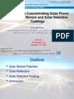 Plataforma Solar de Almeria - Annual Report 2008-2009
