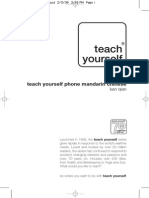 Teach Yourself Phone Mandarin Chinese