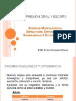 Presentación de Expresión Oral y Escrita Capítulo 7 UTPL
