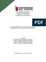 Reconocimiento y Análisis de Fases en La Microestructura de Materiales Metálicos