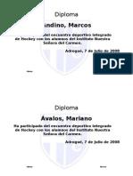 Diploma Deportivo