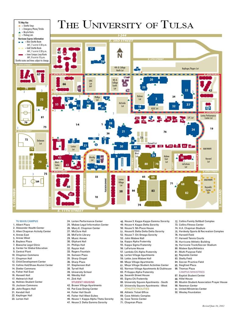 University Of Tulsa Campus Map Fraternities And Sororities
