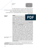 Metab Fosfo Calcic - Studiu